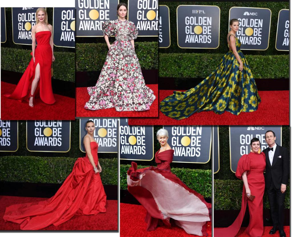 Tinute vedete Golden Globe 2020 // Sursa: theguardian.com